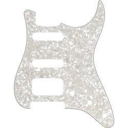Fender Standard Strat HSS Pickguard Aged White Moto
