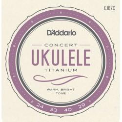D'Addario EJ87C struny do ukulele koncertowego