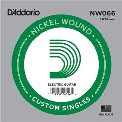 D′Addario NW066 Nickel Wound struna pojedyńcza