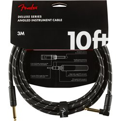 Fender Deluxe Cable Black 3m Kątowy