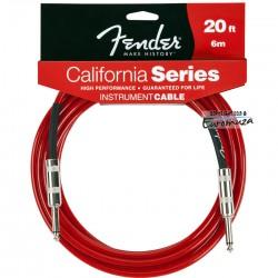 Fender California Cable 6 m czerwony- kabel instrumentalny