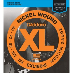 D'Addario EXL160-5 /50-135/ do basu 5 str