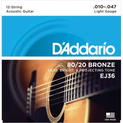 D'Addario EJ36 /10-47/ do gitary 12-strunowej