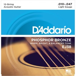 D'Addario EJ38 /10-47/ do gitary 12-strunowej