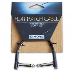 RockBoard Flat Patch Cable, Black, 10 cm