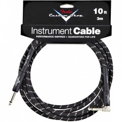 Fender Custom Shop Cable Black 3m Kątowy