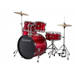 Ludwig Accent Drive Red Zestaw + Hardware + Talerze LC17514