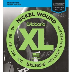 D'Addario EXL165-5 /45-135/ do basu 5 str