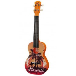 Korala PUC-30-08 Hawaii orange Ukulele Sopranowe