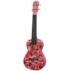 Korala PUC-30-16 Pink fractals Ukulele Sopranowe