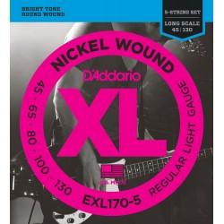 D'Addario EXL170-5 /45-130/ do basu 5 str