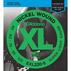 D'Addario EXL220-5 /40-125/ do basu 5 str