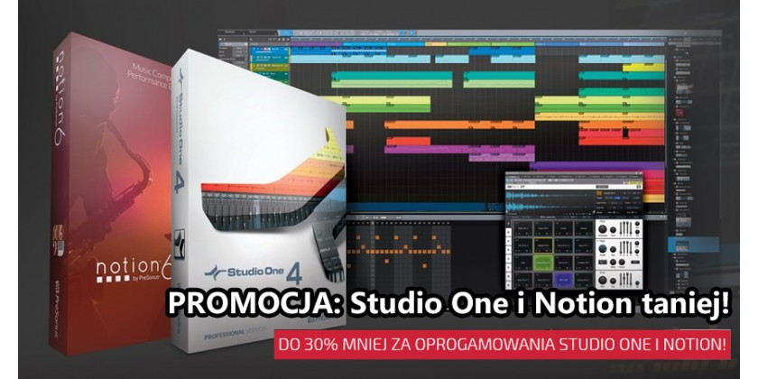 Ceny na Studio One i Notion spadają nawet do 30%!