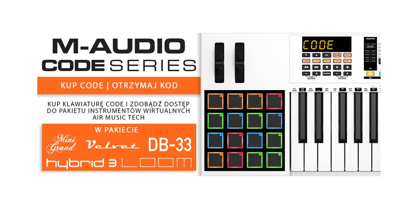 M-Audio Code Software do klawiatur!